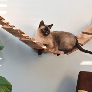 Olive & D Wall-Mounted Wooden Cat Shelf