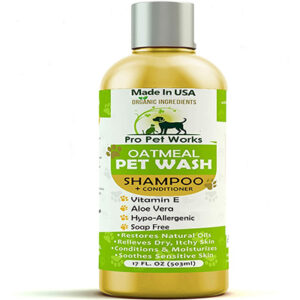 Pro Pet Works All Natural Oatmeal Pet Shampoo And Conditioner