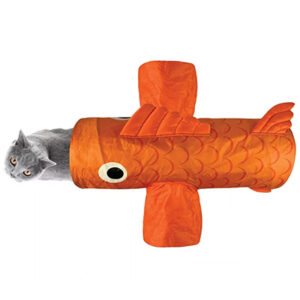 Quirky Kitty Orange Goldfish Play Tunnel Cat Toy