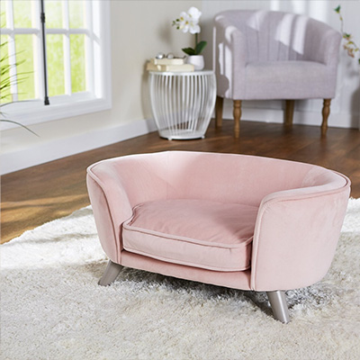 Enchanted Home Pet Romy Sofa Cat and Dog Bed with Removable Cover