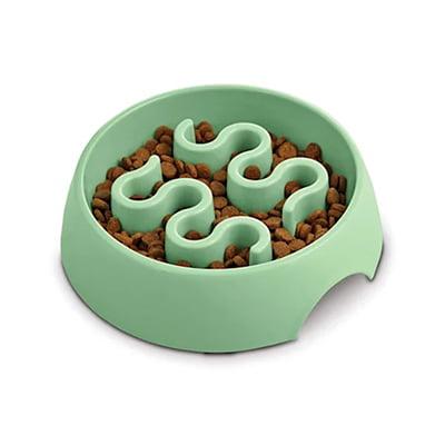 Harmony Mint Plastic Slow Feeder Dog Bowl