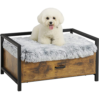 MSMASK Modern Style Cat Bed Frame with Storage Drawer