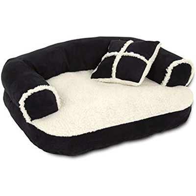 Petmate Aspen Pet Sofa Bed with Comfort and Support Pillow