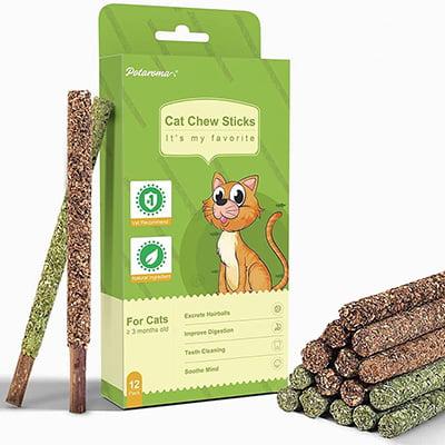 Potaroma Natural Silvervine and Catnip Cat Chew Sticks
